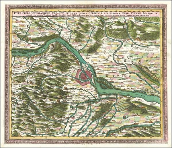 82-Austria Map By Matthaus Seutter