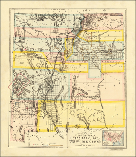 26-New Mexico Map By Whiteman, Hicks & Whiteman