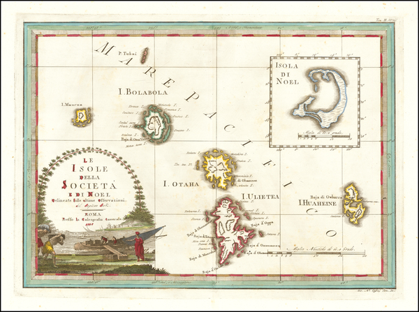 22-Other Pacific Islands Map By Giovanni Maria Cassini