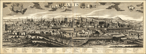 100-Paris Map By Georg Balthasar Probst