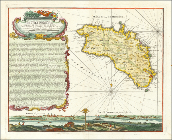 15-Spain and Balearic Islands Map By Homann Heirs