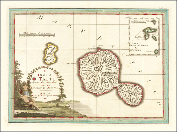 97-Other Pacific Islands Map By Giovanni Maria Cassini