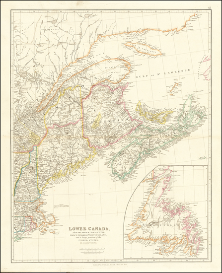 41-New England, Maine and Canada Map By John Arrowsmith