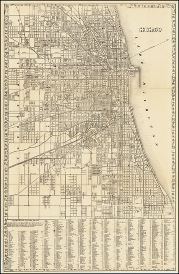 70-Illinois and Chicago Map By Samuel Augustus Mitchell Jr.