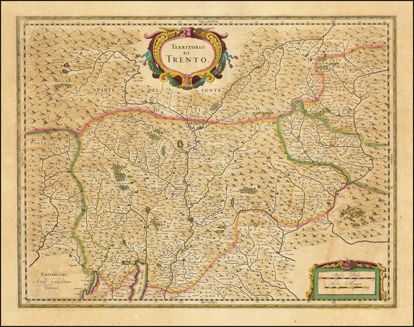 61-Northern Italy Map By Willem Janszoon Blaeu