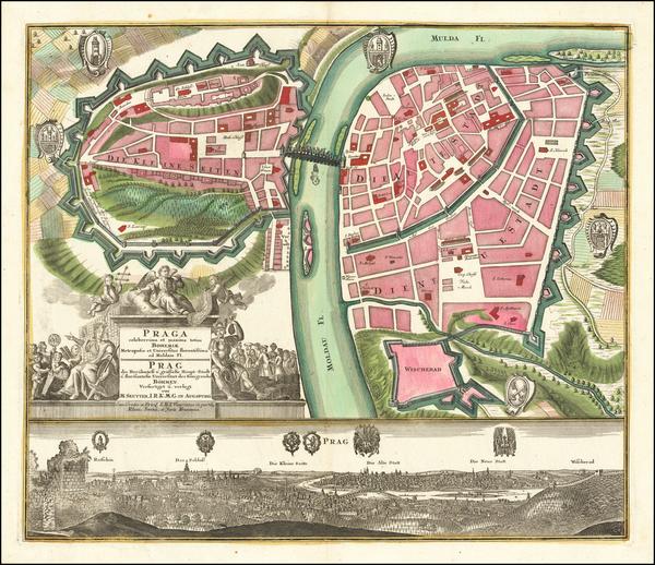 100-Czech Republic & Slovakia Map By Matthaus Seutter