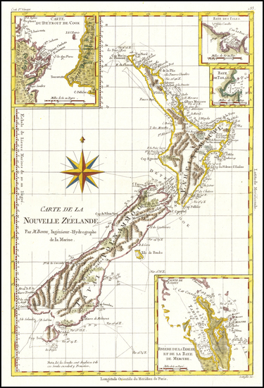 23-New Zealand Map By Rigobert Bonne
