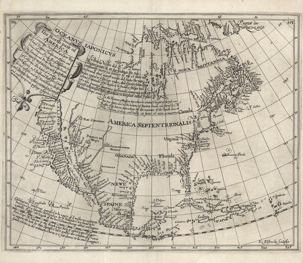 39-Southeast, North America and California as an Island Map By Henry Briggs