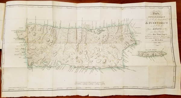 59-Puerto Rico Map By Andre-Pierre Ledru