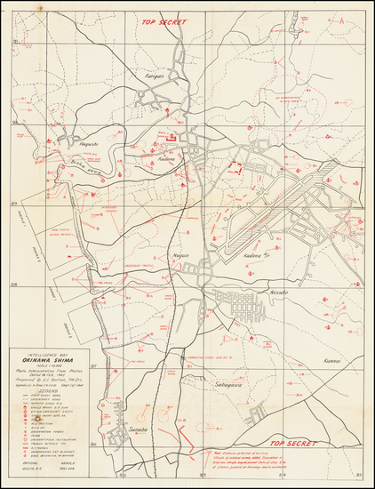 57-Japan and World War II Map By G-2 Section, 7th Division