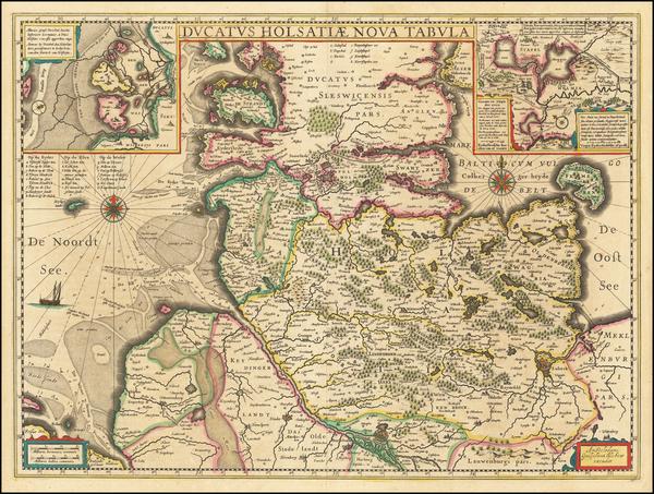82-Norddeutschland Map By Willem Janszoon Blaeu