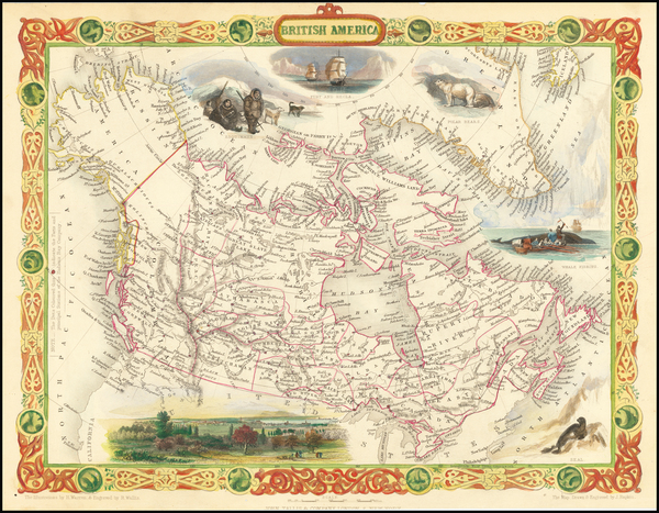 83-Polar Maps, Alaska and Canada Map By John Tallis