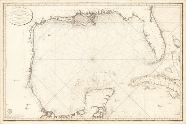 0-South, Southeast, Texas and Caribbean Map By Depot de la Marine