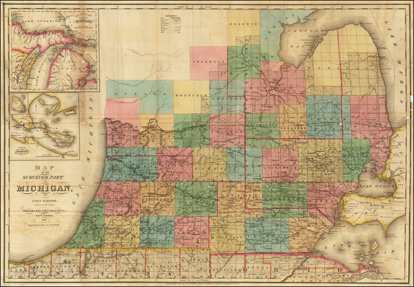 14-Michigan Map By John Farmer