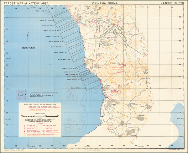 90-Japan and World War II Map By U.S. Navy Photographic Interpretation Squadron Two (Interpron Two
