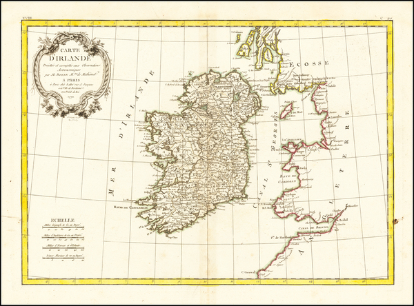 80-Ireland Map By Jean Lattre