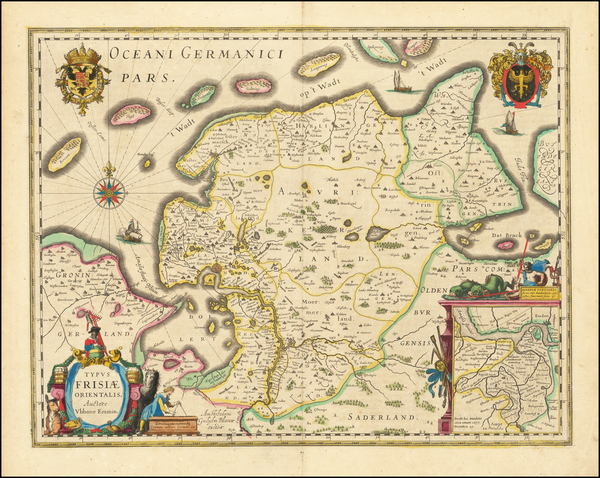 98-Germany Map By Willem Janszoon Blaeu