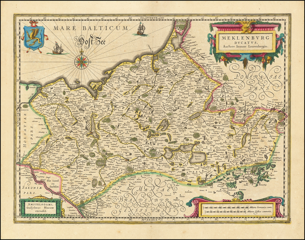 71-Germany Map By Willem Janszoon Blaeu