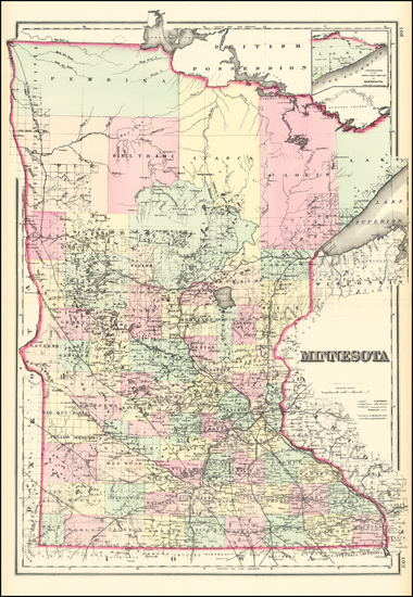 30-Minnesota Map By O.W. Gray