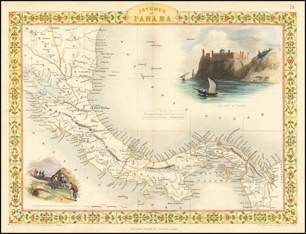 48-Central America Map By John Tallis