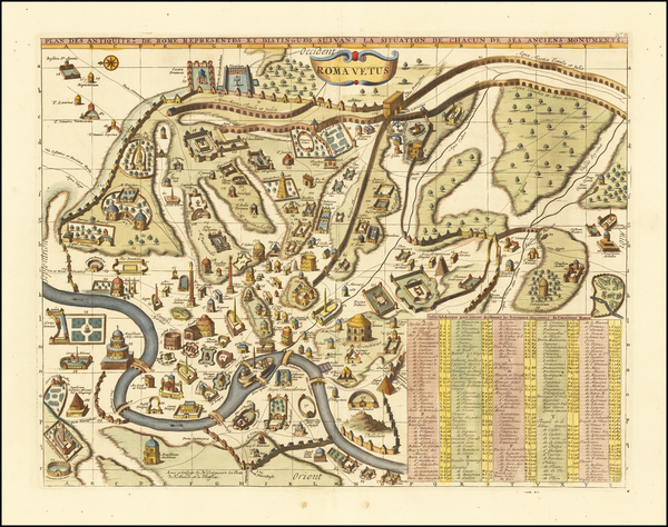 74-Rome Map By Henri Chatelain