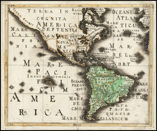 79-North America, South America and America Map By Franz Wagner