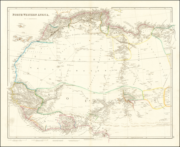 21-North Africa and West Africa Map By John Arrowsmith