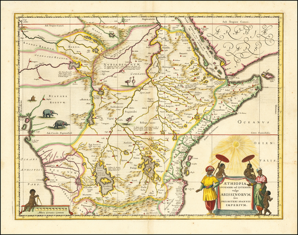 93-East Africa and West Africa Map By Willem Janszoon Blaeu