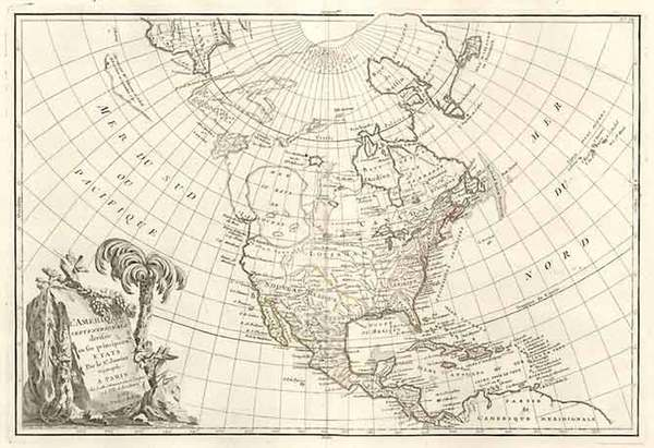 32-Alaska and North America Map By Jean Janvier