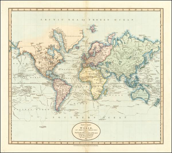 57-World Map By John Cary