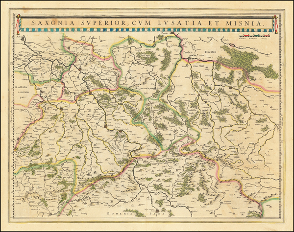48-Germany and Poland Map By Willem Janszoon Blaeu