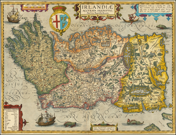 39-British Isles, Ireland and Balearic Islands Map By Abraham Ortelius / Johannes Baptista Vrients