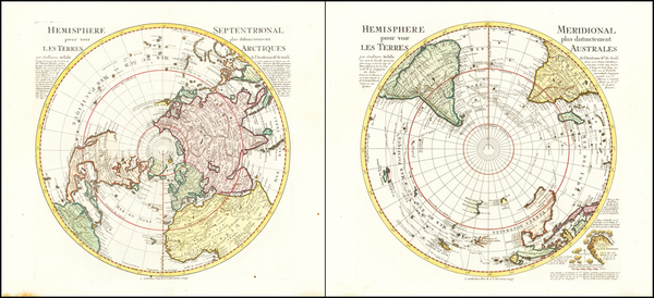 34-Southern Hemisphere, Polar Maps, Australia and New Zealand Map By Reiner & Joshua Ottens