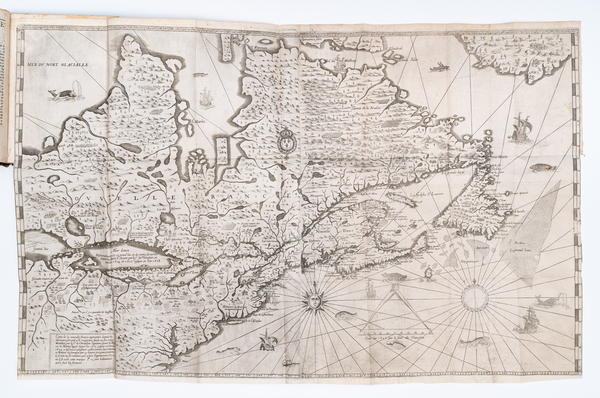 36-United States, New England, Canada and Rare Books Map By Samuel de Champlain