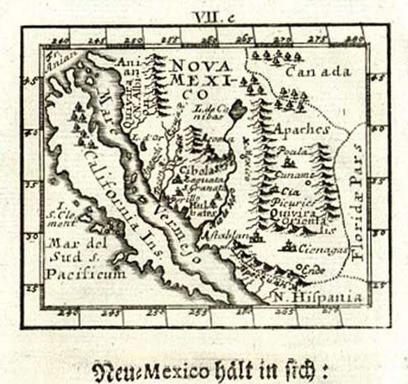 41-Southwest, Mexico, Baja California and California Map By Johann Ulrich Muller