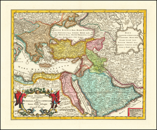 82-Turkey, Middle East and Turkey & Asia Minor Map By Christopher Weigel