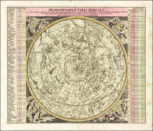 45-Celestial Maps Map By Johann Gabriele Doppelmayr