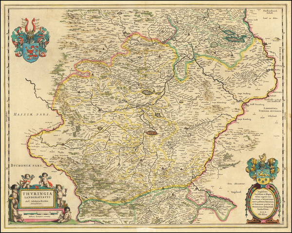 68-Germany Map By Willem Janszoon Blaeu