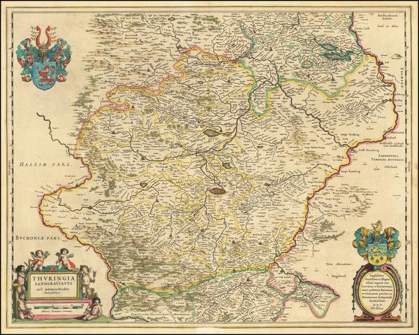 96-Germany Map By Willem Janszoon Blaeu