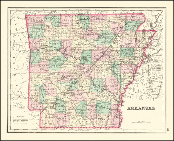 39-Arkansas Map By O.W. Gray