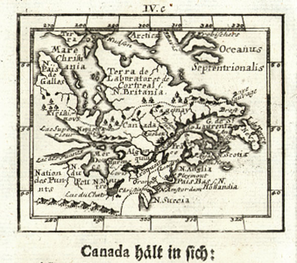 29-New England, Midwest and Canada Map By Johann Ulrich Muller