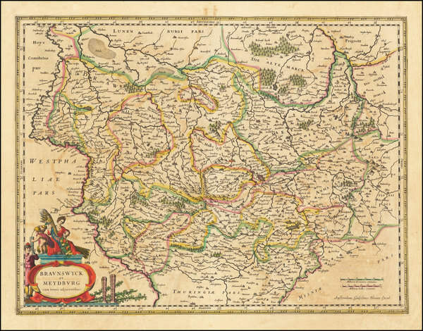 27-Germany Map By Willem Janszoon Blaeu