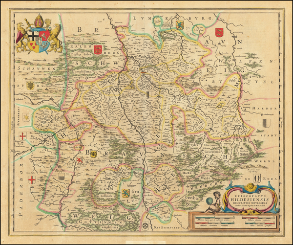 40-Germany Map By Willem Janszoon Blaeu