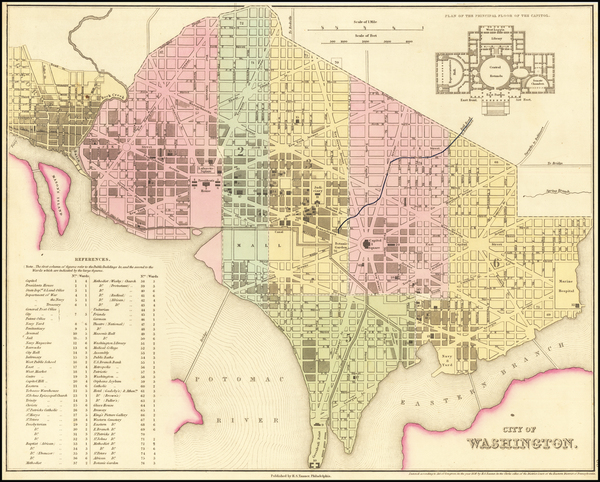 57-Washington, D.C. Map By Henry Schenk Tanner