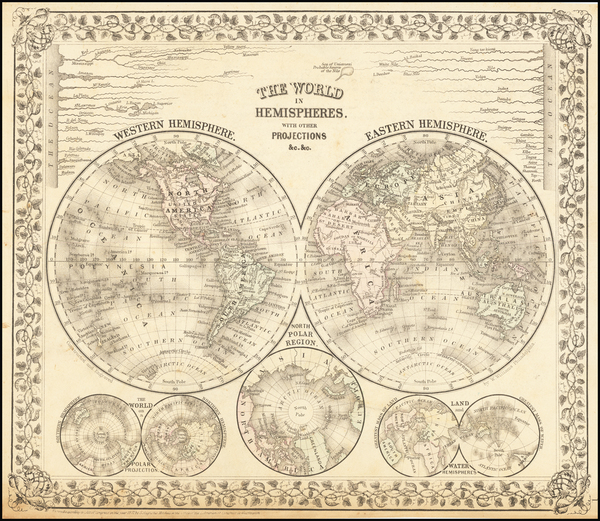 99-World and World Map By Samuel Augustus Mitchell Jr.