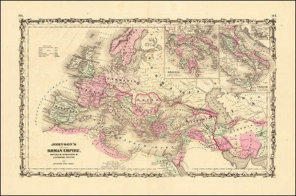 5-Europe, Italy and Mediterranean Map By Alvin Jewett Johnson
