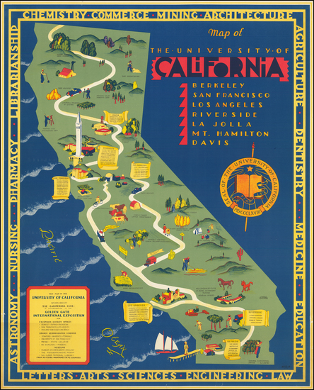 69-Pictorial Maps and California Map By S. Iachman