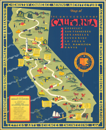 91-Pictorial Maps and California Map By S. Iachman