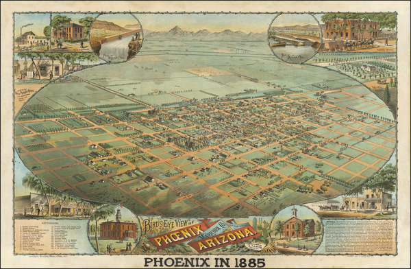 21-Arizona Map By Schmidt Label & Litho. Co.  &  C.J. Dyer