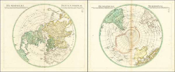 19-Northern Hemisphere and Polar Maps Map By Sigismund  Ehrenreich Redern